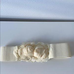 Accessories - Ivory flower belt